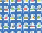 REMNANT PIECE - Moda - Sanibel by Gina Martin - Adirondacks Chairs - Sapphire