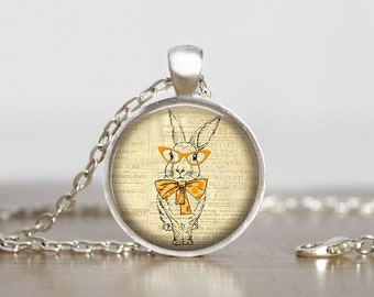 Bunny Rabbit Pendant Necklace