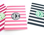 Rugby Monogrammed Binder, Notebook, Folder or Journal