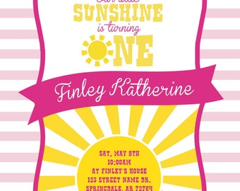 You Are My Sunshine Birthday Invitation (PDF)