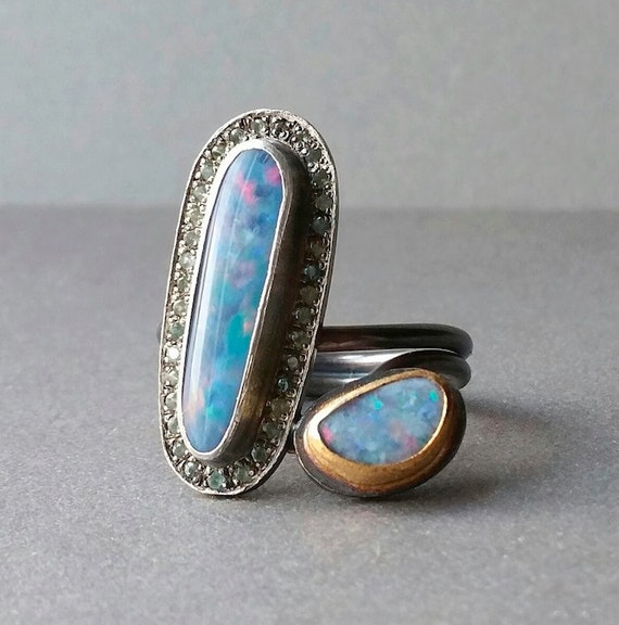 Items similar to fine jewelry opal doublet ring in for Z s fine jewelry