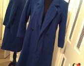 Vintage Blue Trench Coat