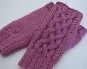 UNBREWED Knitting Pattern  - Adults Kids - Fingerless Mitts, Handwarmers PDF File