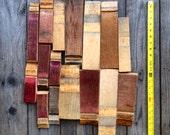 Wine Barrel Cut Offs (Scrap wood, White Oak, Burgundy, Staves, Decor, Material, Art Supplies)