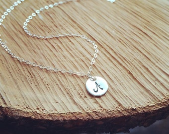Personalized Gift - Initial Necklace - Hand Stamped Custom Initial Drop - Dainty Jewelry - Mothers necklace, Best Friends