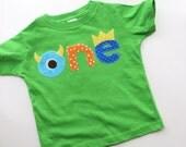 Monster Birthday Shirt First Birthday Boys Shirt gift photo prop funny