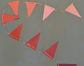 Pink Triangle Ombre Paint Swatch Banner