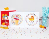 Baby Love! Set of 12 cards (6 of each)