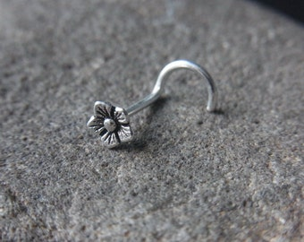 18gauge Oxidized flower nose screw
