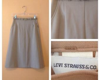 LEVIS Misty Mauve Skirt 1980s S/M