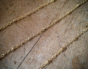 GOLD Disc Chain Faceted 2mm Discs 24k Gold plated 1.5mm Wire Hand Made Necklace Chain Fixed Bead Chain Jewelry (EA076)