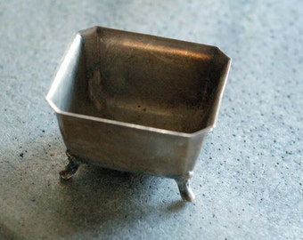 Vintage Silver or Silver Plate Footed Dish
