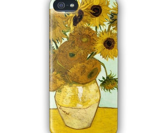 Vincent van Gogh Sunflowers painting for iPhone 4 5 6 SE 6Plus 7 7PLUS and Samsung Galaxy S5 S6 S6 Edge S7 S7 Edge