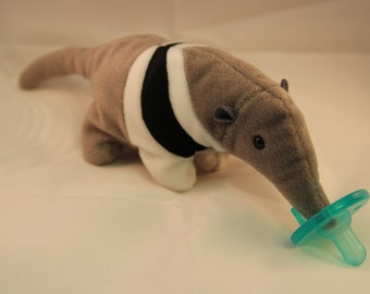 anteater pacifier holder pacimal - you choose the pacifier