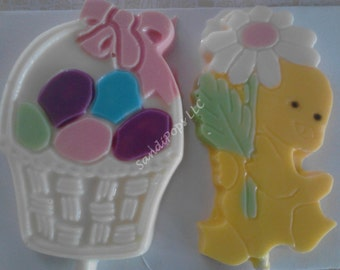 24 Easter Chick Chicken Egg Chocolate Lollipops
