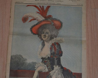 Le Petit Journal 15 April 1893 Madame Elisabeth Le Marche Aux Fleurs