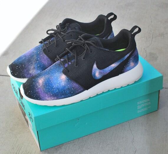 376bacb6404a Custom Galaxy Nike Roshe Run Hand Painted Blue by BStreetShoes 50 ...