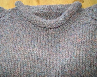 Rolled Neck Wool Sweater
