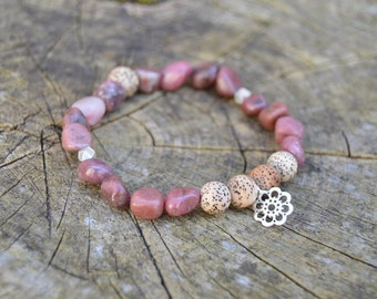 Be Calm. Lepidolite and Seed Bracelet.