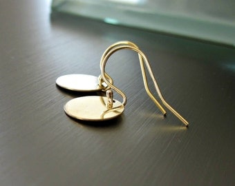 Simple Gold Filled Disc Earrings - Small - Minimalist - Contemporary