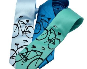 Bike Tie screen printed Bicycle Necktie