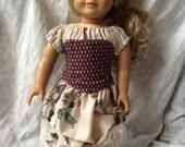 American Girl Victorian Steampunk Dress & Corset