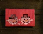 Snowman Border embroidery file