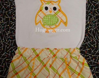 Applique Owl embroider file