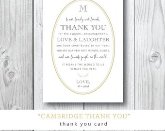 Cambridge Thank You Cards