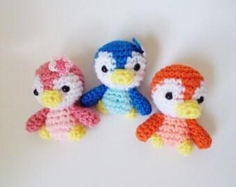 Amigurumi Set Tropical Baby Penguins - ornament for ...