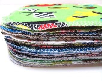 MINI Reusable Cloth Wipes, Cloth Diaper Wipes, 20 Boys Mixed Print Set, Family Cloth, Petite Cloth Wipes, Reusable Facial Pads