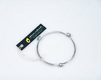 African Elephant Hair Bracelet - 3 Knot Stainless Steel from Zimbabwe