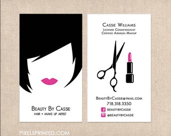 Hair Stylist And Makeup Artist Business Cards - Makeup Vidalondon