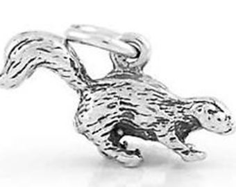 Sterling Silver Skunk Charm Pendant (3D Charm)