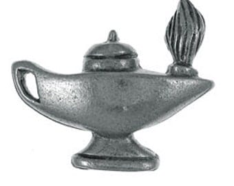 Lamp of Learning Lapel Pin - cc507- Oil lamp, genie lamps