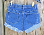 High waisted jean shorts stretch size 4