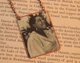 Bessie Smith necklace Black History jewelry Jazz jewelry