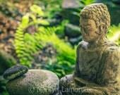 Peaceful Art, Zen Art Print, Meditation Wall Art, Garden Buddha Photograph, Fine Art Photography, Zen Wall Art, Zen Home Decor