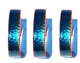 hammered enameled cuff bracelet
