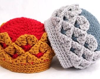 Crochet Royal Crocodile Crown INSTANT DOWNLOAD PDF from Thomasina Cummings Designs