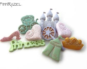 Buttonset fairy Princess - Buttons for girls ca.9x33mm buttons for Girls