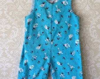 vintage kmart corduroy overalls for baby circus zoo animal novelty print size 6 9 months