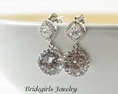 Bridal Earrings,Diamond Look Dangles,Wedding Jewelry Bridesmaid Jewelry,Bridesmaid Earring,Bridesmaids Gift,Crystal Earrings,Dangle Earrings