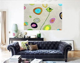 Abstract Art Original Oil Painting A-FA-NANA Large Painting Palette Knife on Canvas