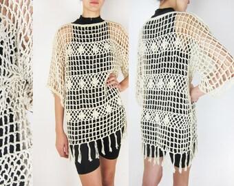 Vintage Crochet_ Mesh_Blouse