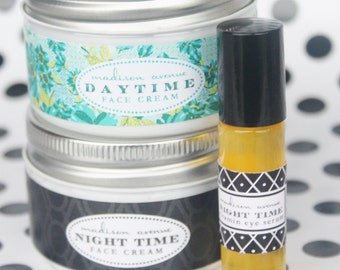 Madison Avenue Soaps Daytime and Night Time Face Cream made from shea butter and goats milk