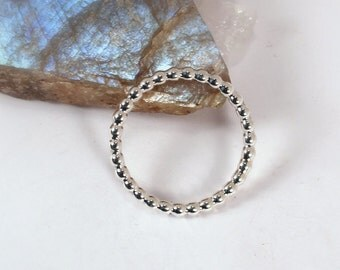 Beaded Ring, Sterling Silver, Made to Order