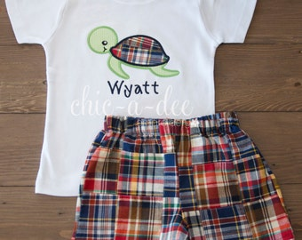Personalized Sea Turtle Shirt + Coordinating Bottoms