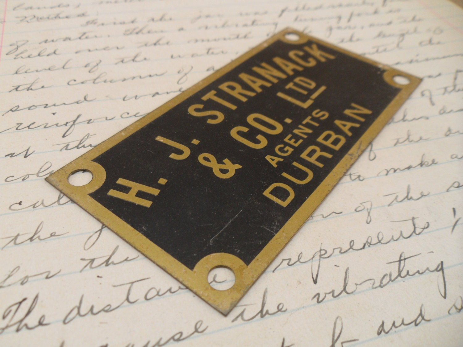 Brass machine name plate industrial brass plate brass ID