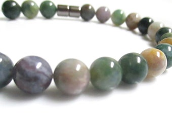 Fancy Jasper Bracelet With A Magnetic Clasp